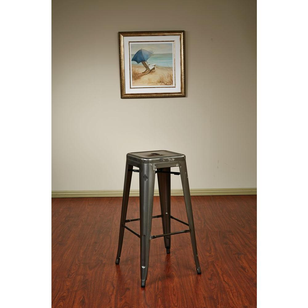 Awe Inspiring Bristow 30 In Antique Gunmetal Bar Stool Set Of 2 Gmtry Best Dining Table And Chair Ideas Images Gmtryco
