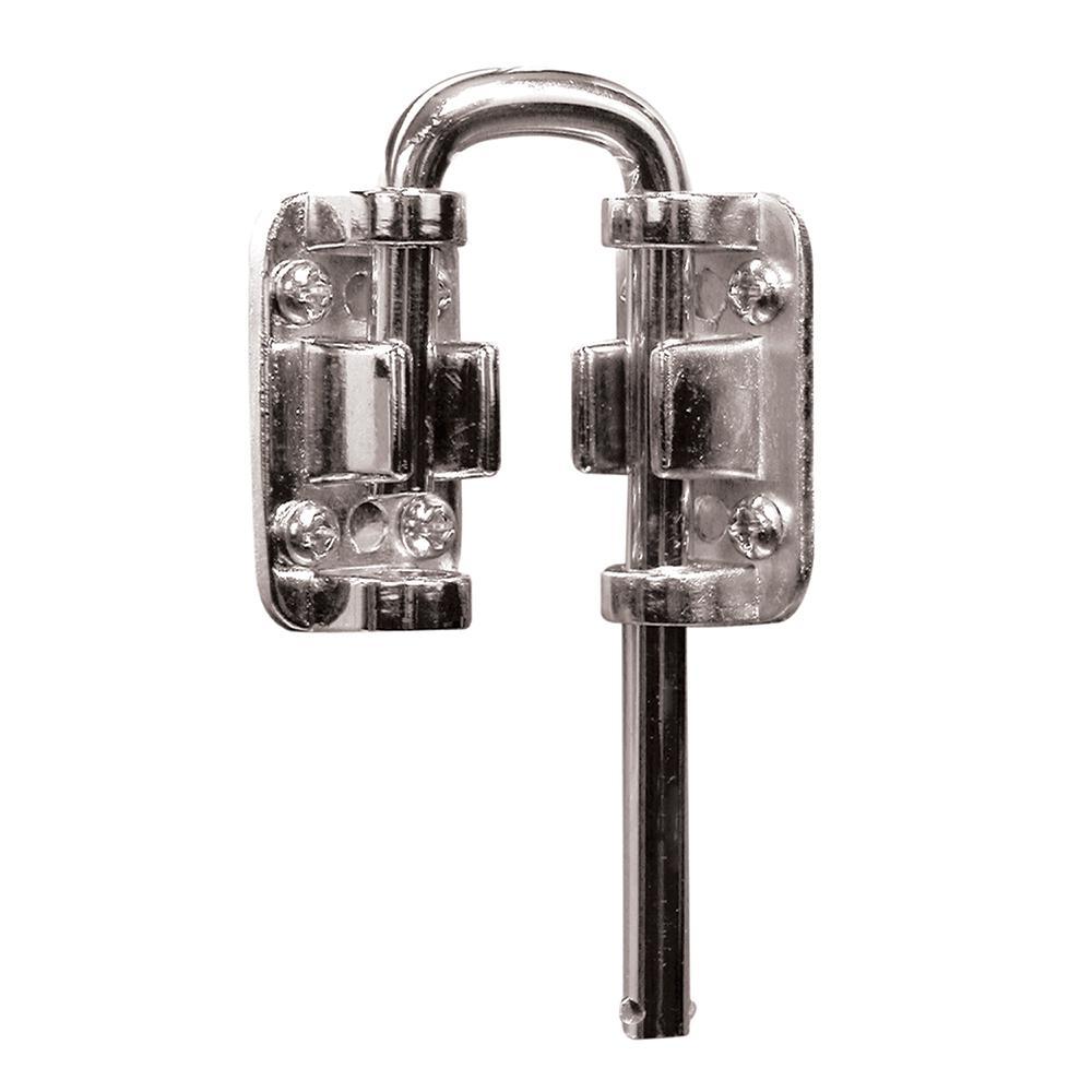 Sliding Door Loop Lock, 1-1/8 in., Nickel Plated