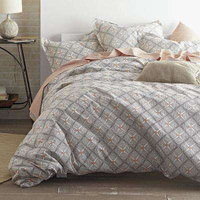Parquet Diamond Organic Queen Duvet Cover