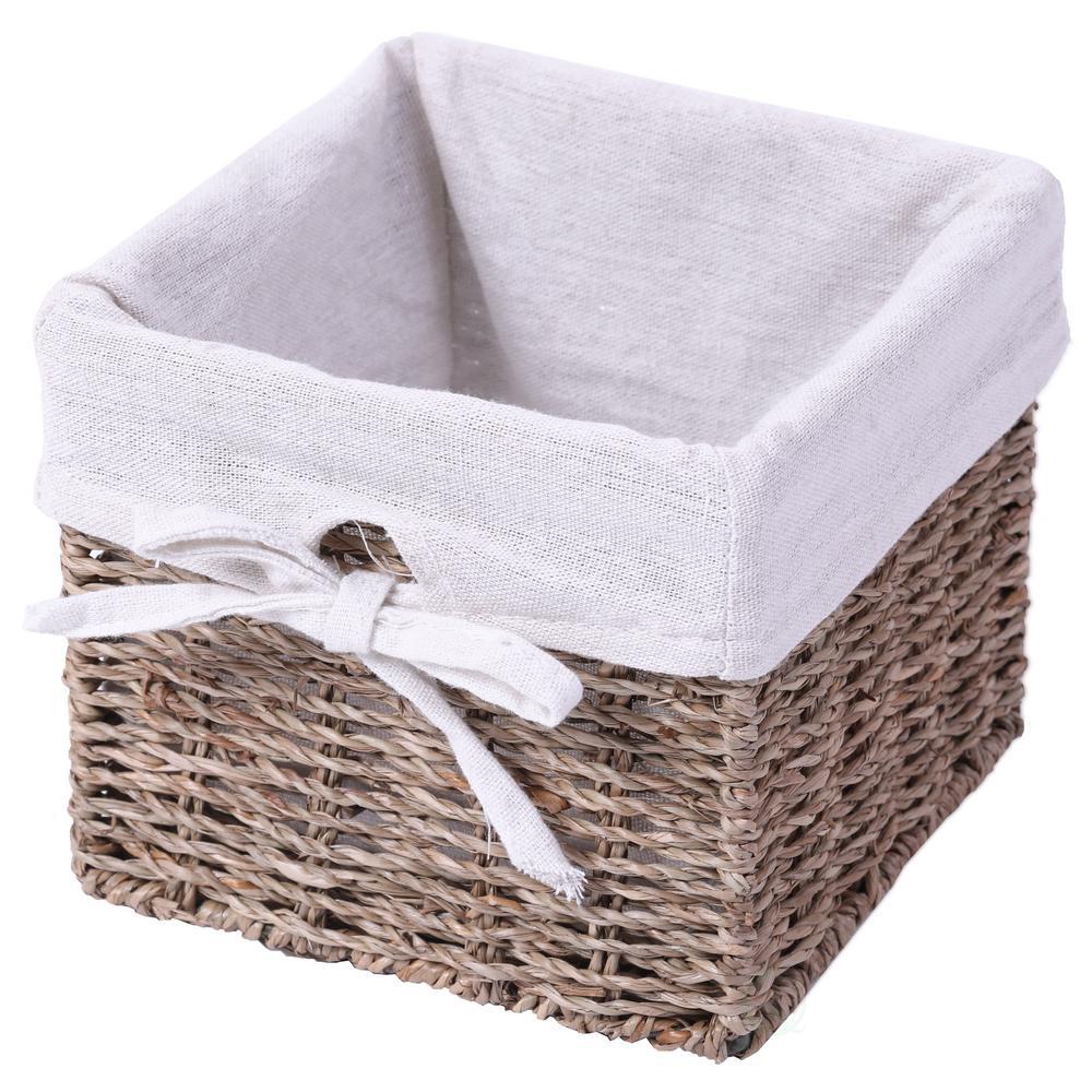 Seagr Small Shelf Storage Basket With White Lining