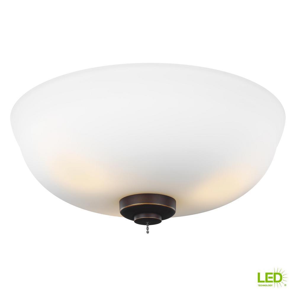 Monte Carlo 3-Light LED Ceiling Fan Light Kit-MC243RB - The Home Depot