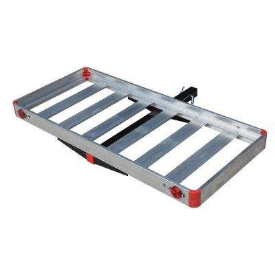 500 lb. Capacity Compact Aluminum Hitch Mounted Cargo Carrier