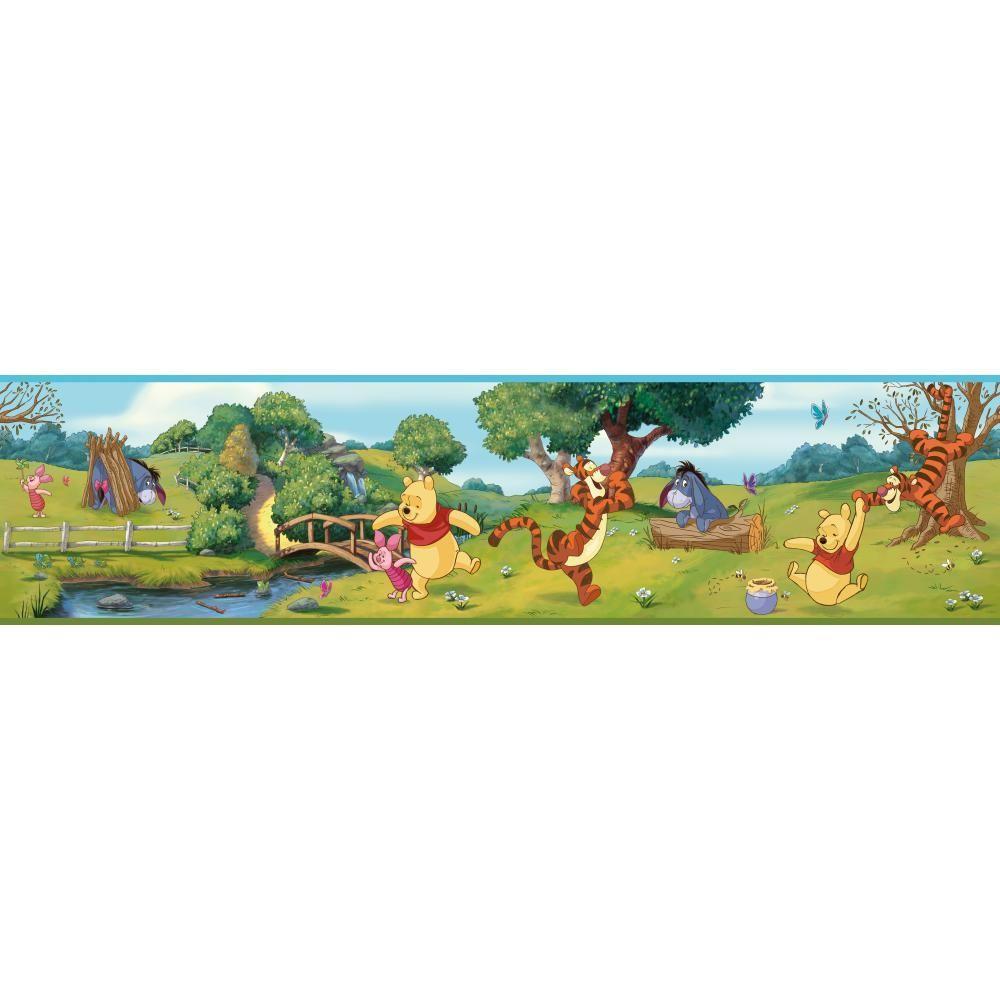 Walt Disney Kids II Swinging Pooh Wallpaper Border