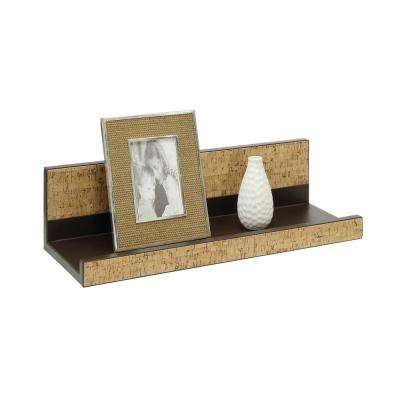 Accented Cork 20 in. W x 8 in. D Brown Wall Mounted Decorative Shelf