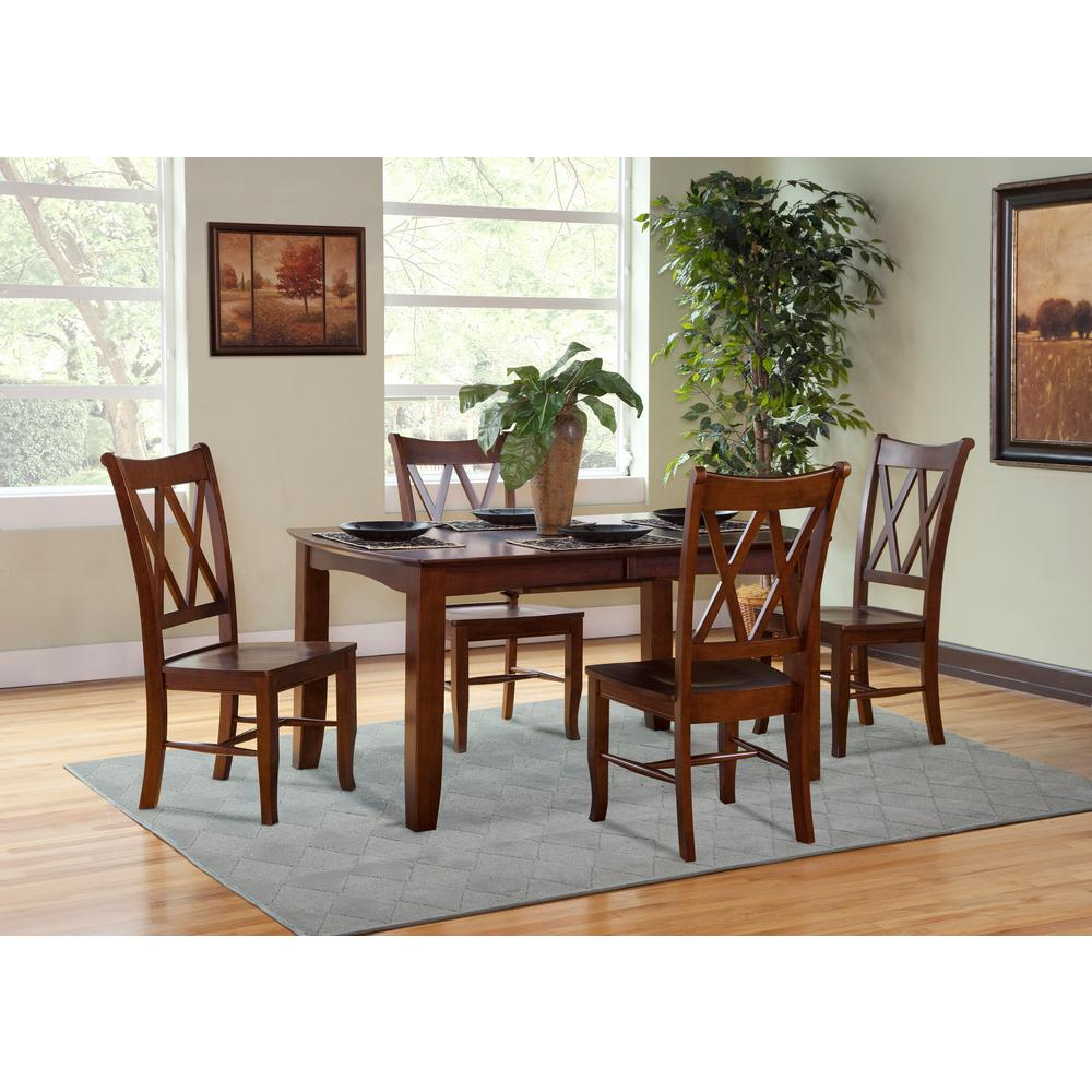 International Concepts Espresso Wood Double X Back Dining Chair (Set Of 2)