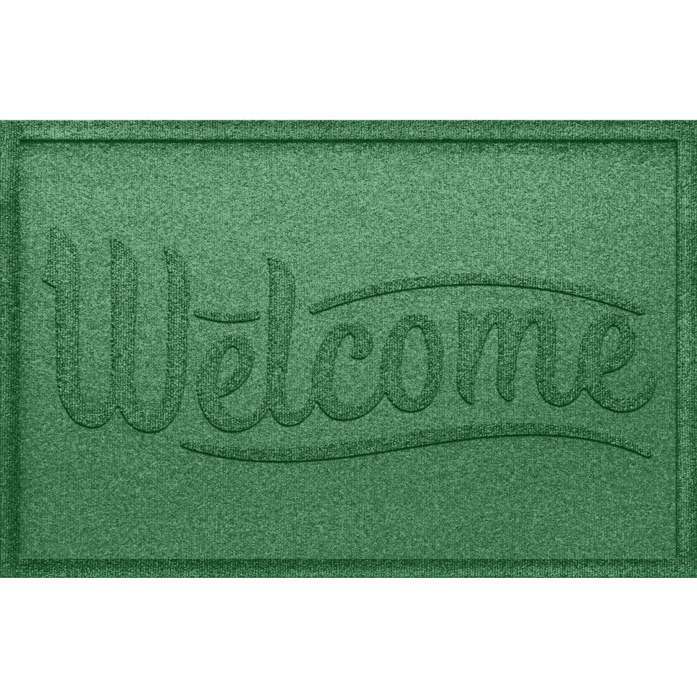 Aqua Shield Simple Welcome Light Green 24 In. X 36 In