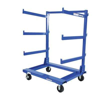37.6 in. x 50.6 in. x 64.8 in. Portable Cantilever Cart
