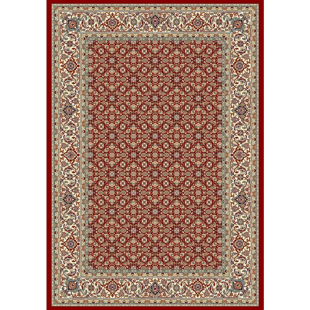 Hughes Red/Ivory 6 ft. 7 in. x 9 ft. 6 in.