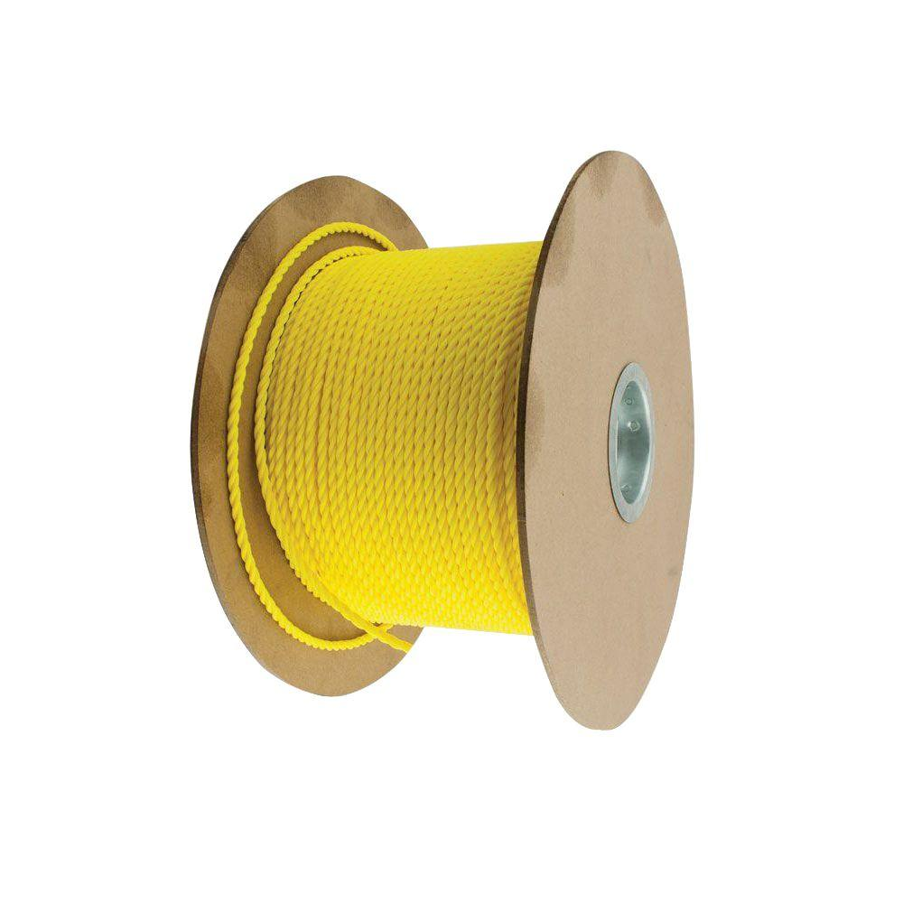 3/4 in. x 1 ft. Yellow Twisted Polypropylene Rope