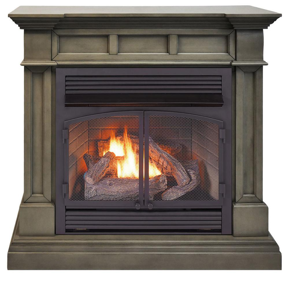 Duluth Forge 45 in. Full Size Ventless Dual Fuel Fireplace ...