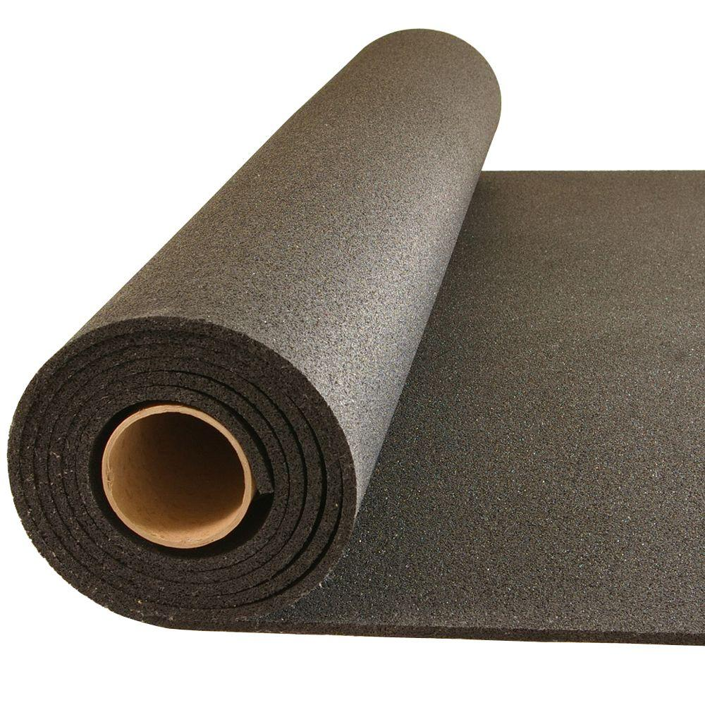 Greatmats Plyometric Black 4 Ft X 10 Ft X 0 314 In Gym Rubber