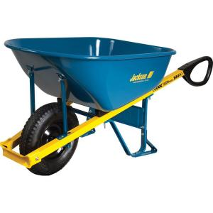 Jackson 6 cu. ft. Seamless Steel Wheelbarrow with Total Control Handles by Jackson