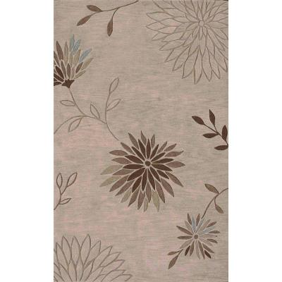 Ascot 301 Dahlia Floral Linen 5 ft. x 7 ft. 9 in. Area Rug