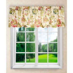 Brissac 15 inch L Polyester Tailored Valance in Red by