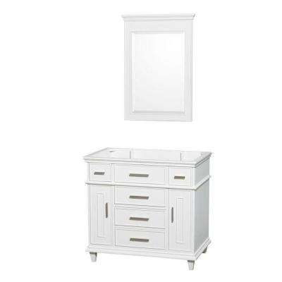 Berkeley 36 in. Vanity Cabinet with Mirror in White