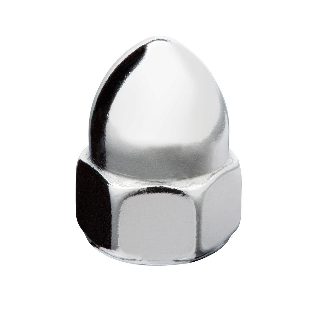 1/4 in.-28 Thread Pitch Chrome Cap Nut (3-Piece/Pack)