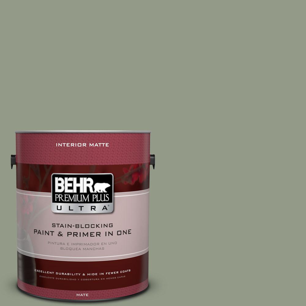BEHR Premium Plus Ultra 1 gal. #430F-4 False Cypress Flat/Matte Interior Paint