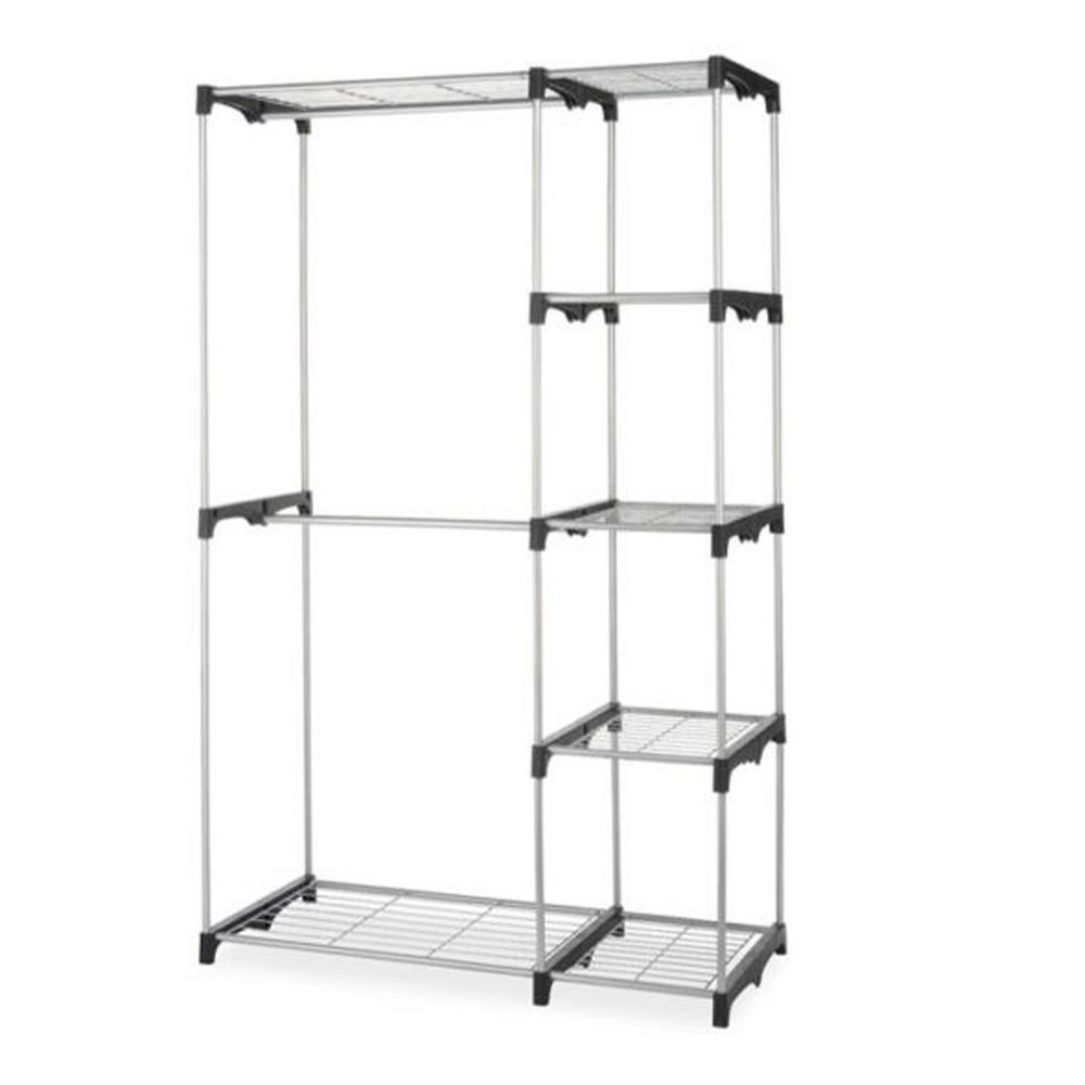 Closet Organizer Storage Portable Clothes Hanger Home Garment Rack