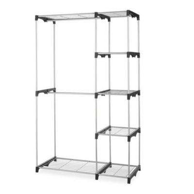 48 in. x 68 in. Closet Organizer Storage Portable Clothes Hanger Home Garment Rack Shelf Rod