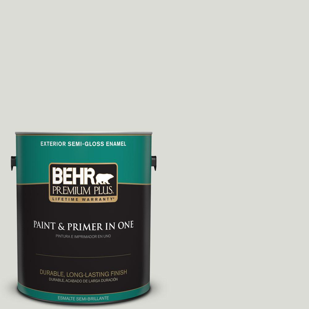 1-gal. #BWC-29 Silver Feather Semi-Gloss Enamel Exterior Paint