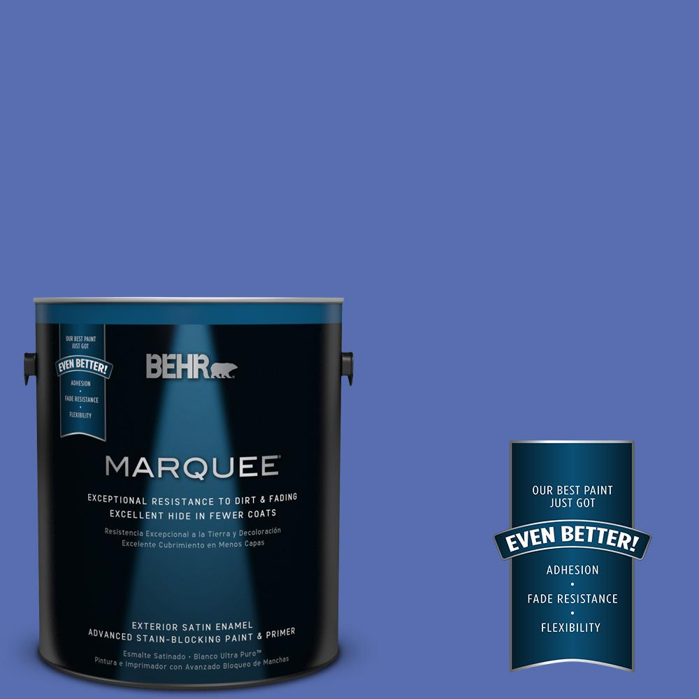 BEHR MARQUEE 1-gal. #PPU15-5 New Age Blue Satin Enamel Exterior Paint