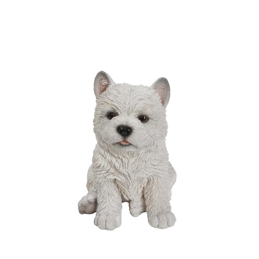 White Terrier Puppy Statue