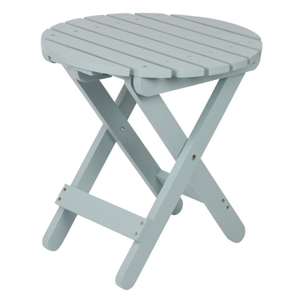 Adirondack Dutch Blue Round Wood Folding Table
