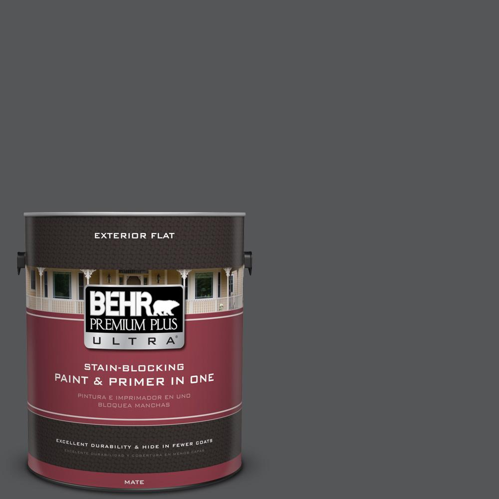 1 gal. #PPU24-22 Shadow Mountain Flat Exterior Paint and Primer in