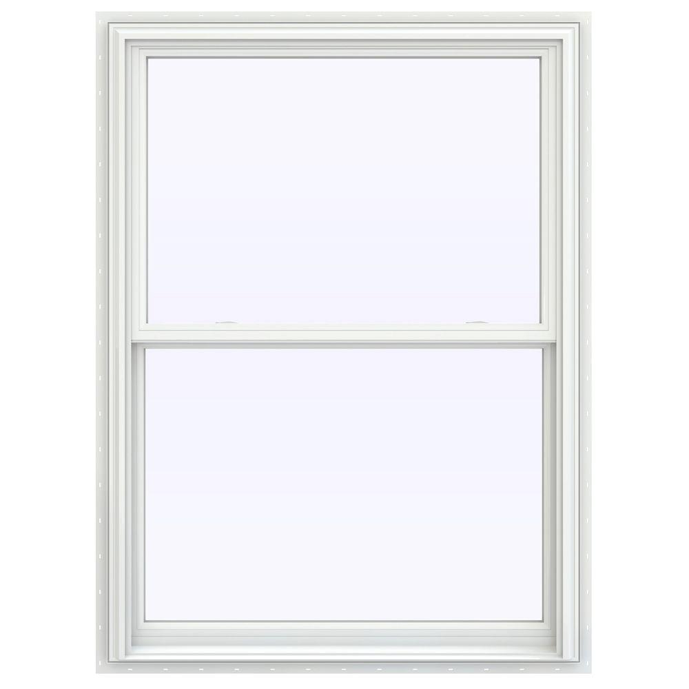 JELD-WEN 39.5 in. x 59.5 in. V-2500 Series Double Hung Vinyl Window - White
