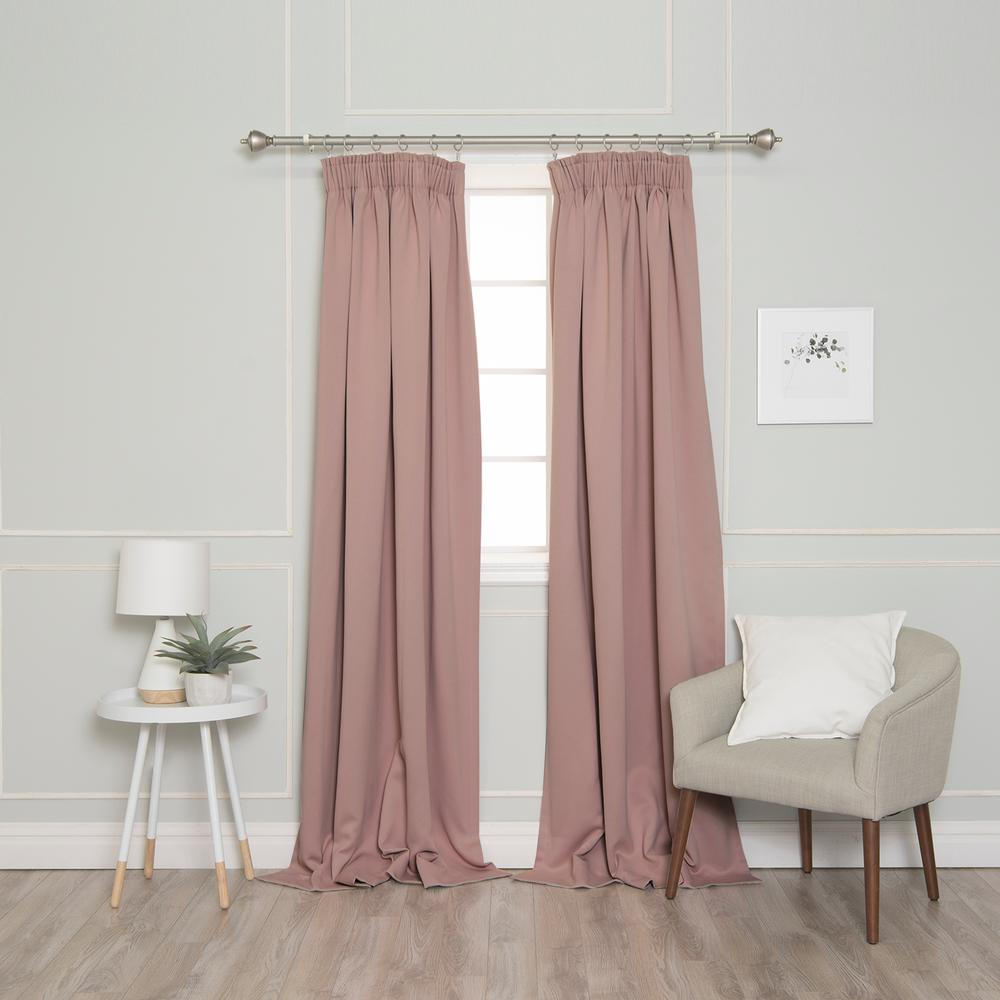 Best Home Fashion 84 In L Pencil Pleat Blackout Curtains In Dusty Pink 2 Pack