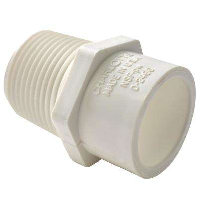 1-1/2 in. x 2 in. PVC Sch. 40 MPT x S Reducer Male Adapter