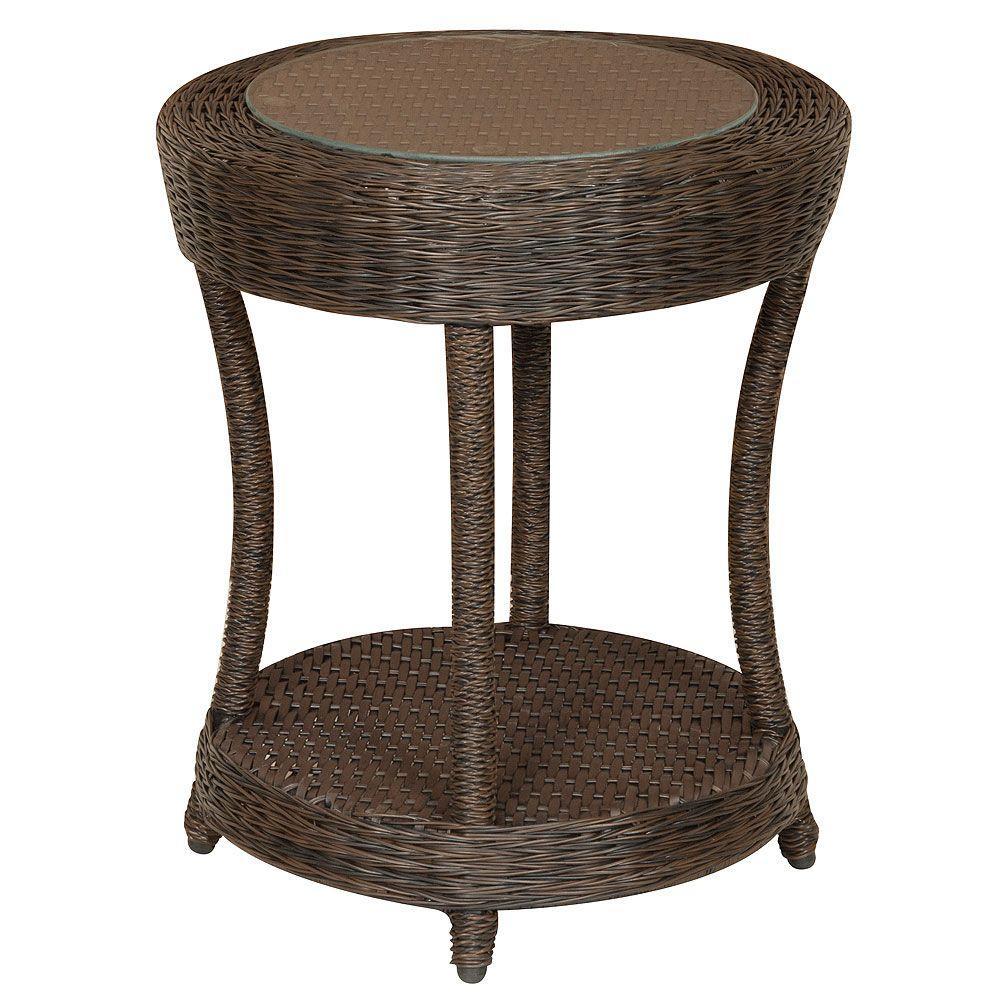 Hampton Bay Nathan Patio Side Table-DISCONTINUED