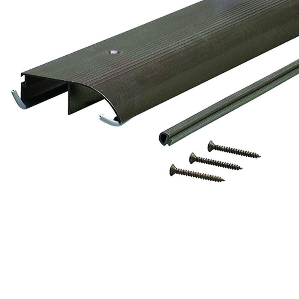 3-1/2 in. x 96 in. Bronze Aluminum Bumper Threshold
