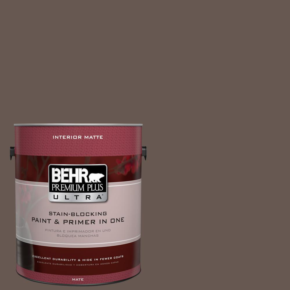 1 gal. #HDC-FL14-10 Pine Cone Brown Flat/Matte Interior Paint