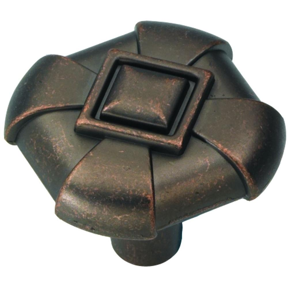 Hickory Hardware Chelsea 1-1/8 in. Dark Antique Copper Cabinet Knob