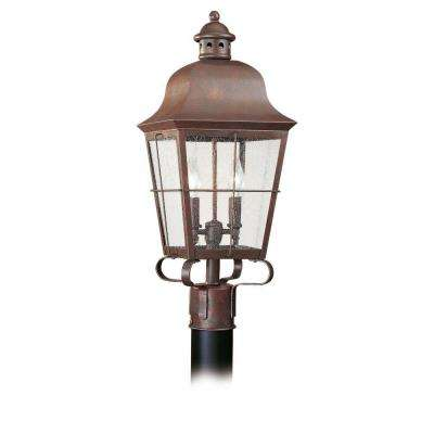 Chatham 2-Light Outdoor Weathered Copper Post Top