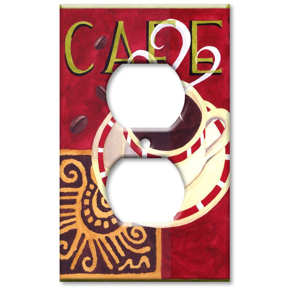 Art Plates Coffee Cafe - Outlet Cover