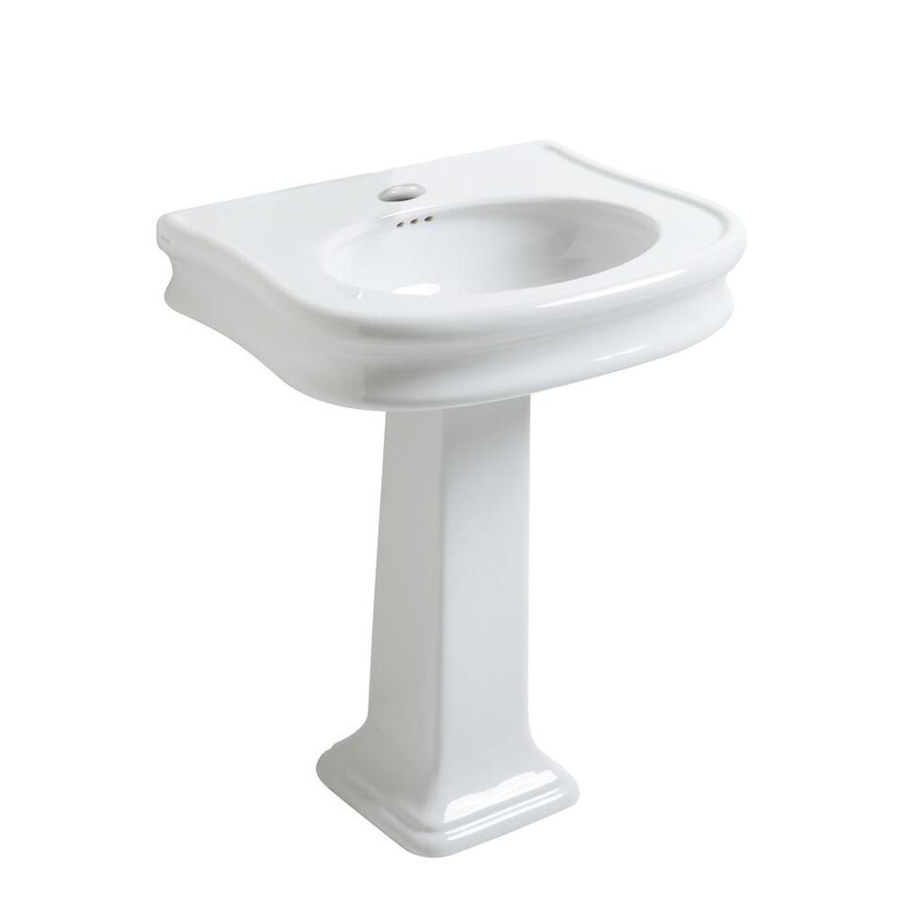 Charming Whitehaus Collection Isabella Collection 27 1/2 In. Traditional Pedestal  Combo Bathroom Sink
