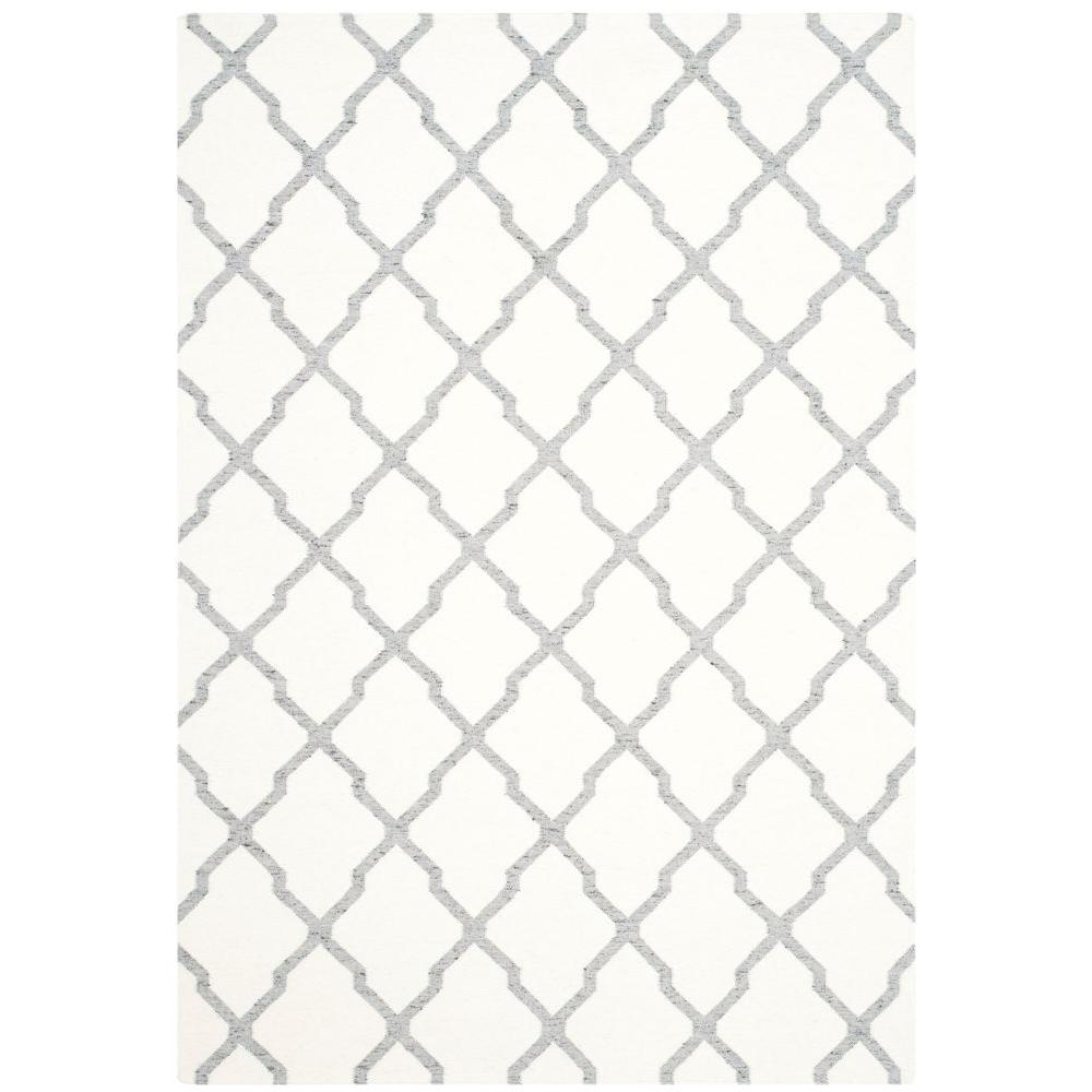 Dhurries Ivory/Grey 6 ft. x 9 ft. Area Rug