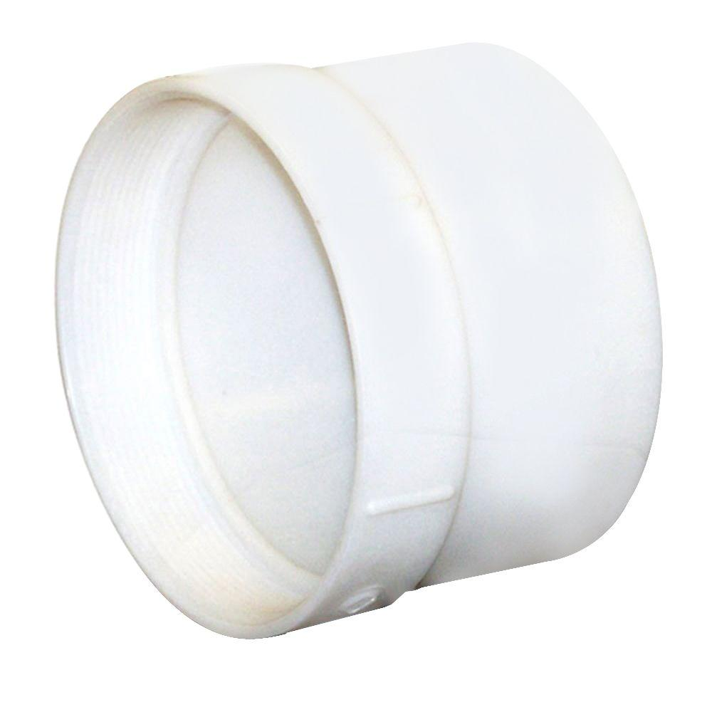 NDS 6 in. PVC Hub x FPT Female Adapter