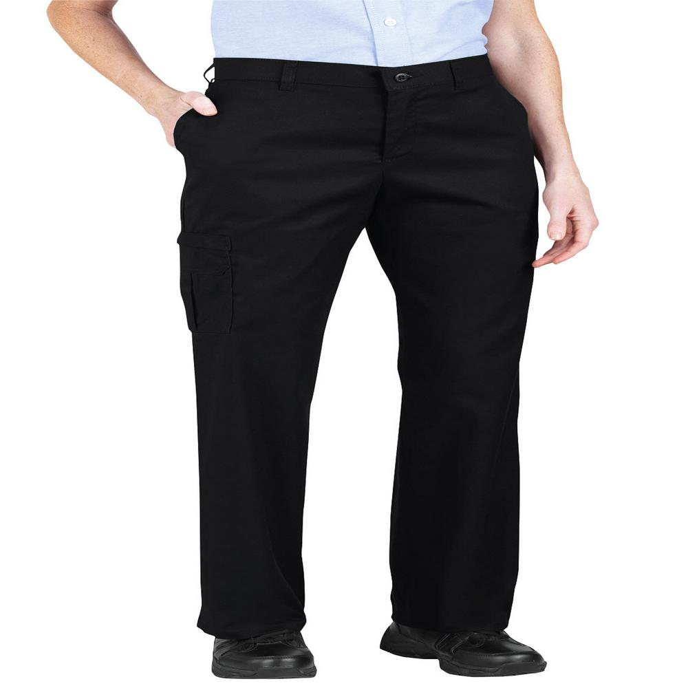 moderate cost pretty cool usa cheap sale Dickies Women's Black Premium Relaxed Straight Cargo Pants