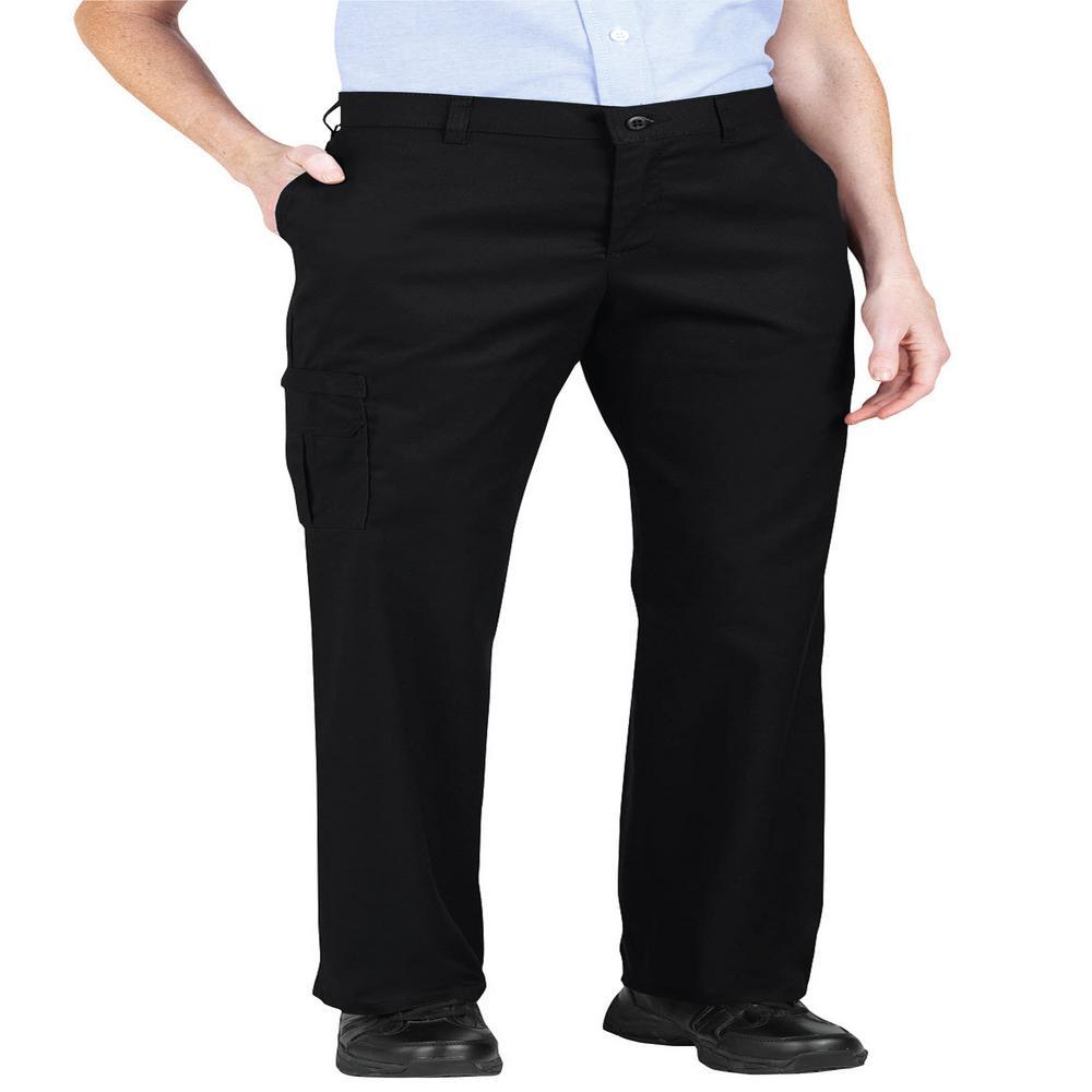 Women's Black Premium Relaxed Straight Cargo Pants