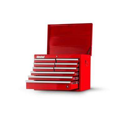 Workshop Series 27 in. 9-Drawer Top Chest in Red