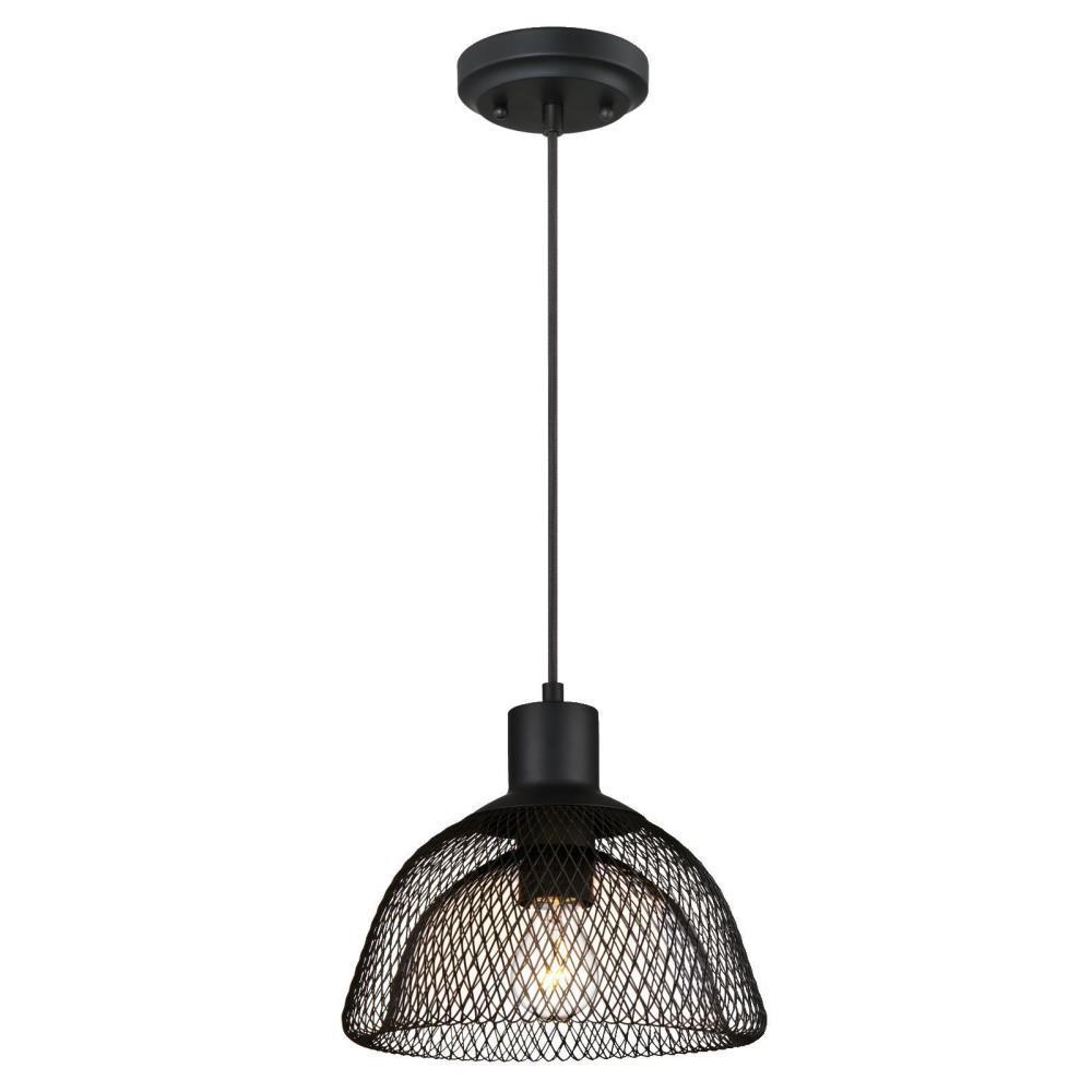 1-Light Matte Black Pendant  sc 1 st  Home Depot & Westinghouse - Black - Pendant Lights - Lighting - The Home Depot