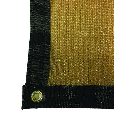 7.8 ft. x 8 ft. Tan 88% Shade Protection Knitted Privacy Cloth