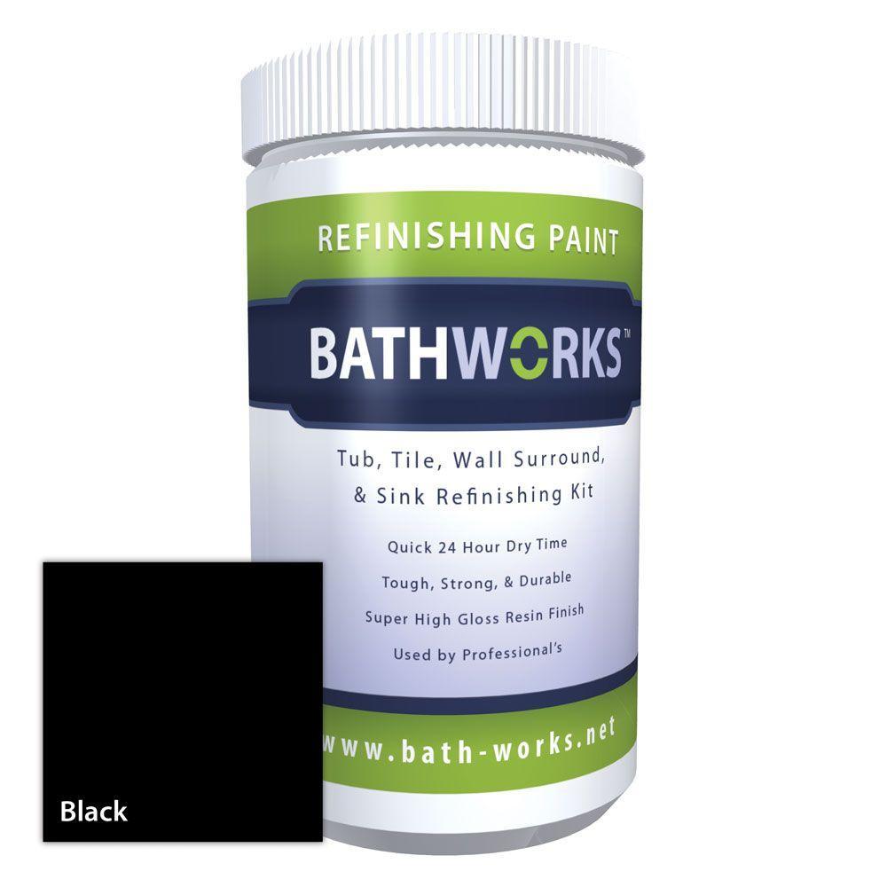 22 oz. DIY Bathtub Refinishing Kit with Slip Guard- Black