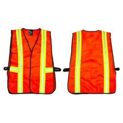 Orange All Industrial Safety Vest with Reflective Strip Neon