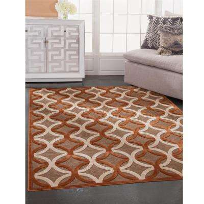 Napa Giles Rust 5 ft. 3 in. x 7 ft. 6 in. Area Rug
