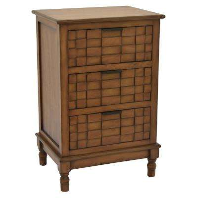 Wood Cabinet in Brown Wood 17in L x 13in W x 26in H