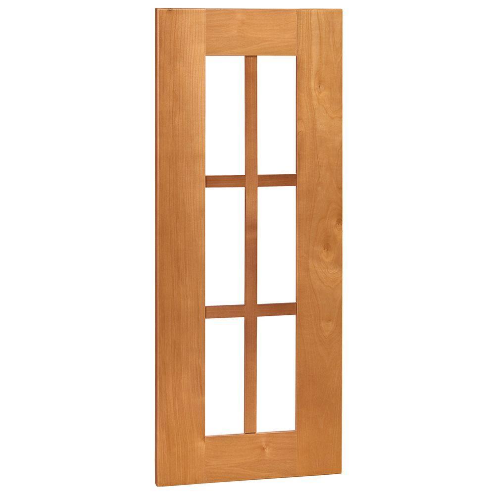 Hargrove Assembled 15x30x0.75 in. Mullion Door in Cinnamon